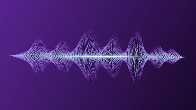 Equalizzatore con voce luminosa e onde sonore. assistente personale e riconoscimento vocale. Vettore Premium