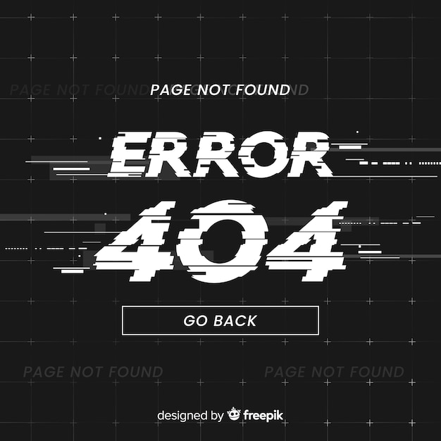 Errore 404 background Vettore gratuito
