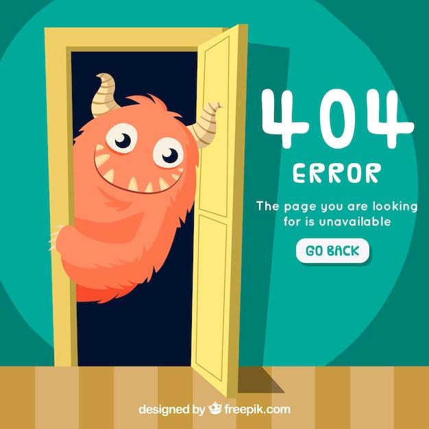 Errore 404 disegnato a mano Vettore gratuito