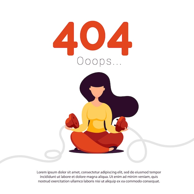 Errore 404 pagina non trovata. Vettore Premium