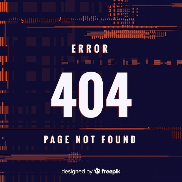 Errore 404 Vettore gratuito