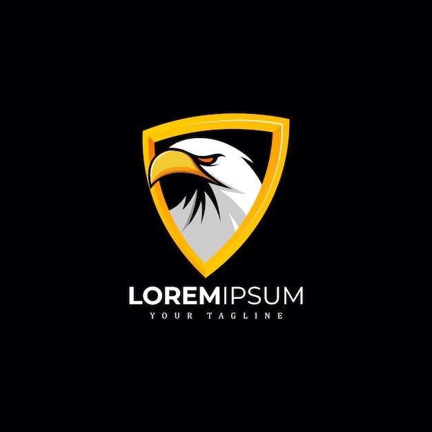 Esclusivo logo eagle premium Vettore Premium