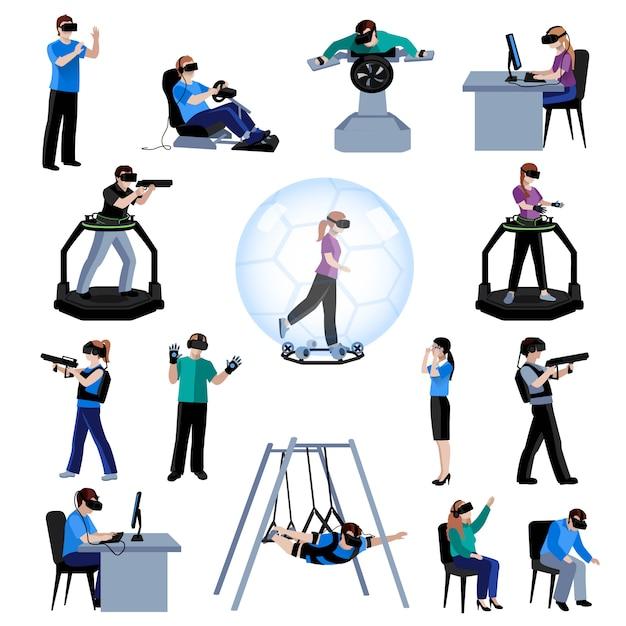 Esperienza attiva di realtà virtuale e aumentata Vettore gratuito