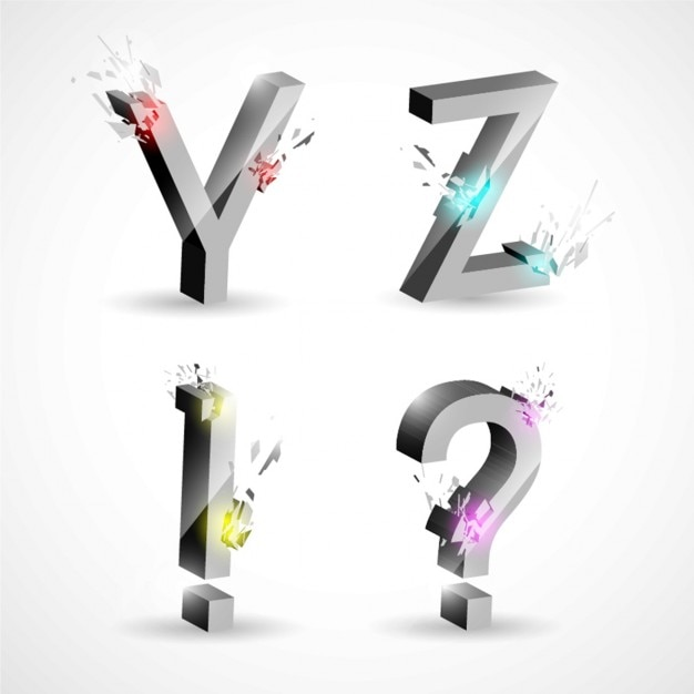 Esplodere progettazione 3d lettera scaricare vettori gratis for Progettazione 3d online