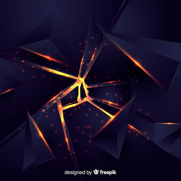 Esplosione 3d con sfondo chiaro Vettore gratuito