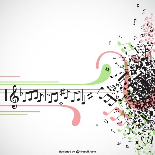 Esplosione di musica vettore Vettore gratuito