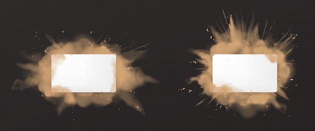 Esplosione di polvere con il bianco Vettore gratuito