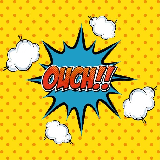 Esplosione di pop art di testo comico del fumetto Vettore gratuito