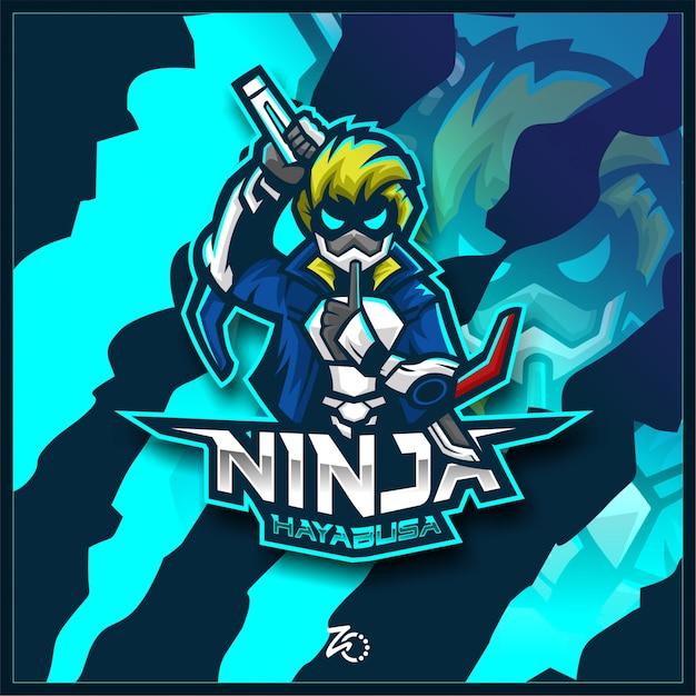 Esportazioni di gioco della polizia del ninja del giappone Vettore Premium