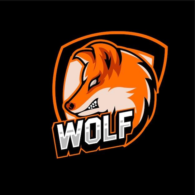 Esports gaming logo team wolf animals Vettore Premium