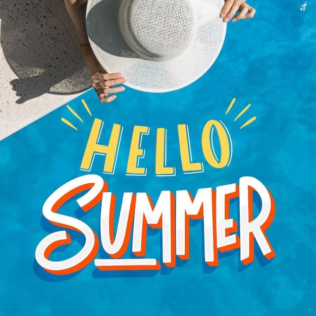 Estate lettering ciao estate Vettore gratuito