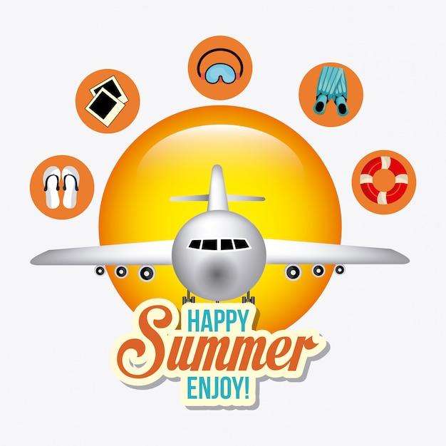 Estate, vacanze e viaggi Vettore gratuito