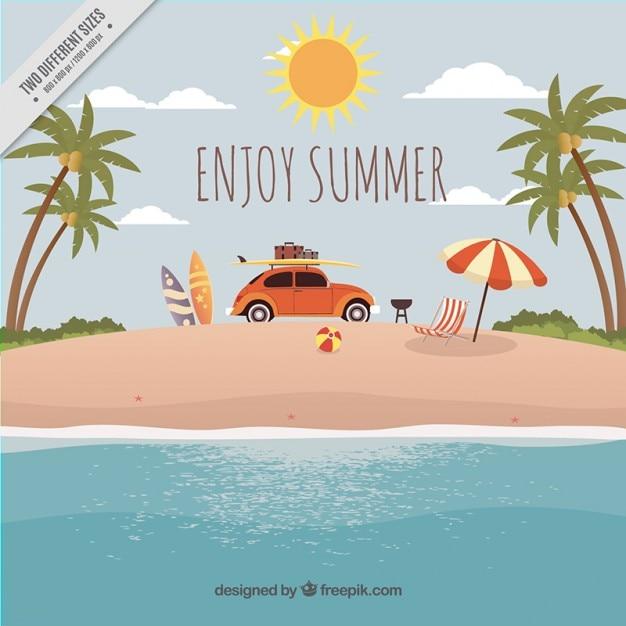 Estate vacanze sfondo Vettore gratuito