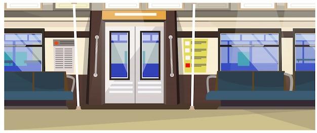 Esterno dell'illustrazione del treno sotterraneo Vettore gratuito