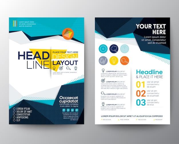 Estratto bassa del poligono forma triangolare sfondo per il modello di poster brochure flyer layout Vettore gratuito