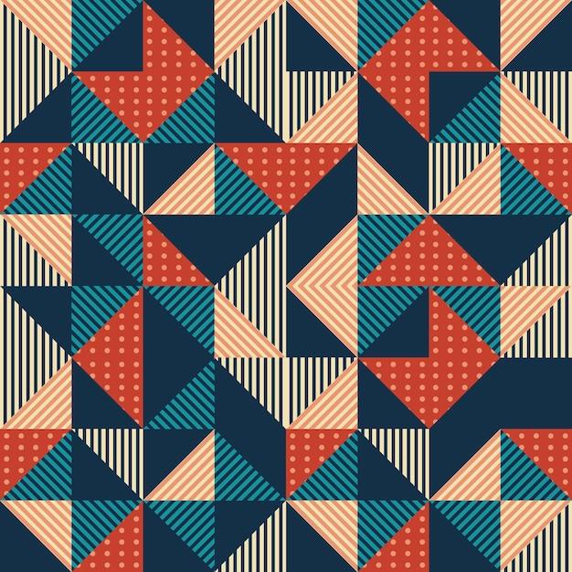 Estratto del triangolo geometrico con sfondo colorato d'epoca Vettore Premium