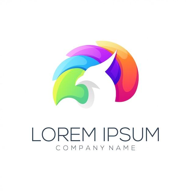 Estratto di logo dell'aquila Vettore Premium