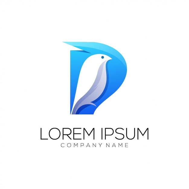 Estratto di logo dell'uccello Vettore Premium