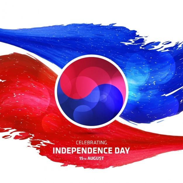 Estratto giorno dell'indipendenza corea del sud Vettore gratuito