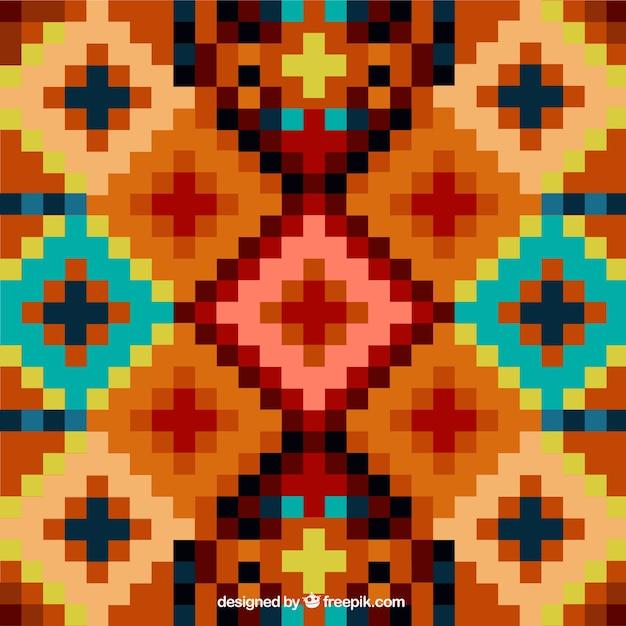 Ethnic sfondo geometrico Vettore gratuito