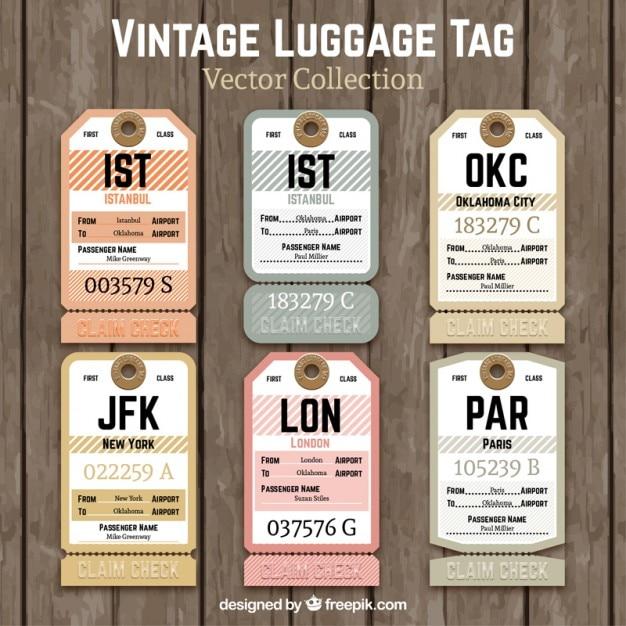 Etichetta bagaglio d'epoca | Vettore Gratis