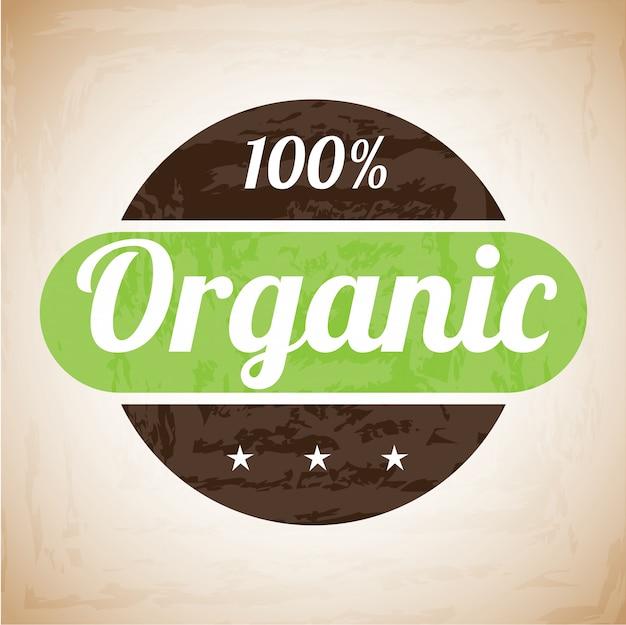 Etichetta biologica Vettore Premium