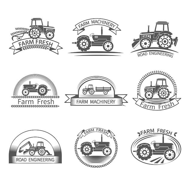 Etichetta del driver del trattore Vettore gratuito