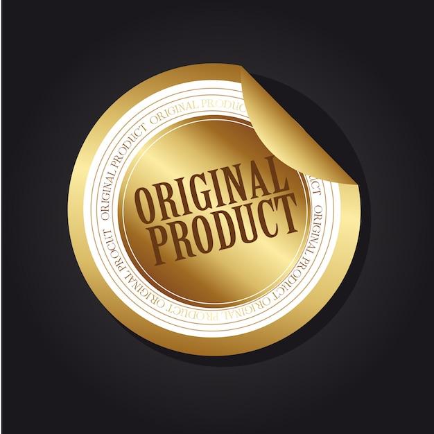 Etichetta del prodotto originale in oro Vettore Premium