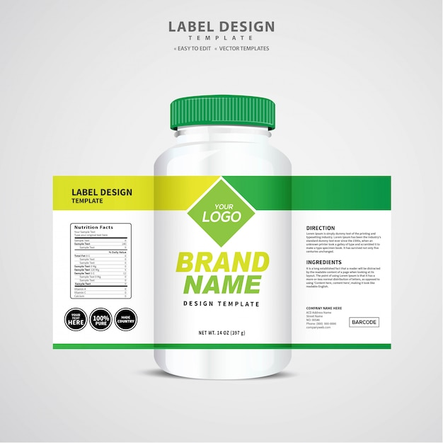 Etichetta della bottiglia Vettore Premium