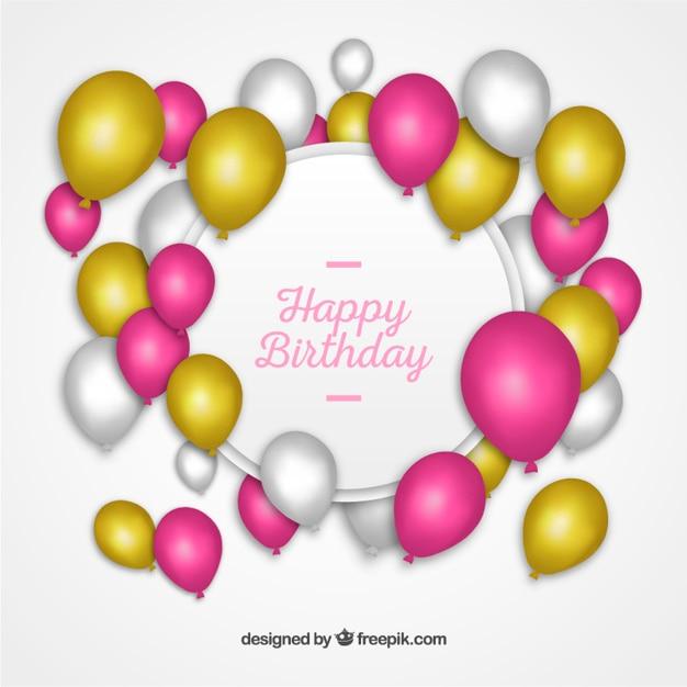 Preferenza Etichetta di buon compleanno con palloncini | Scaricare vettori gratis CZ48