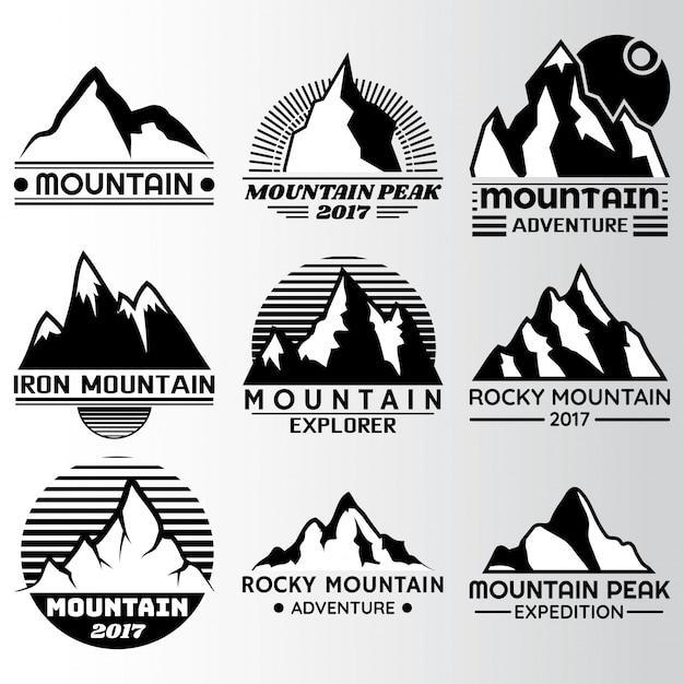 Etichetta di montagna design Vettore gratuito