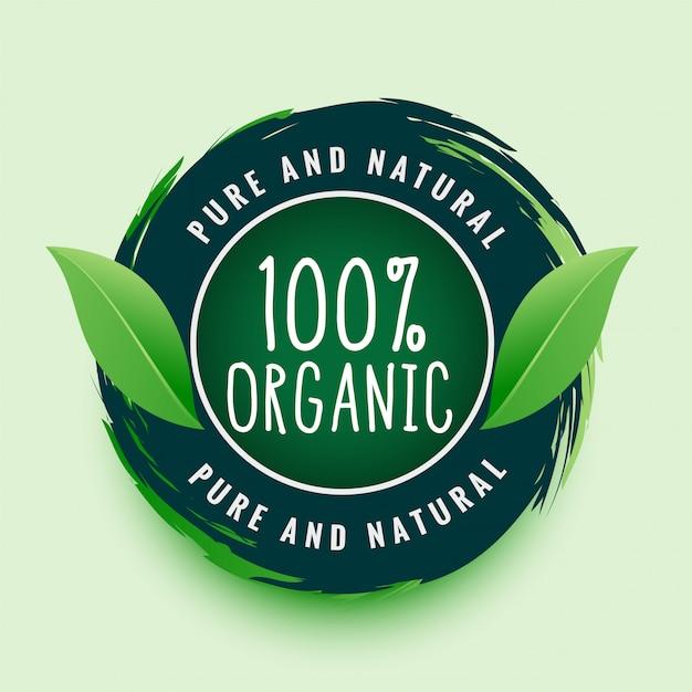 Etichetta o adesivo organico puro e naturale Vettore gratuito