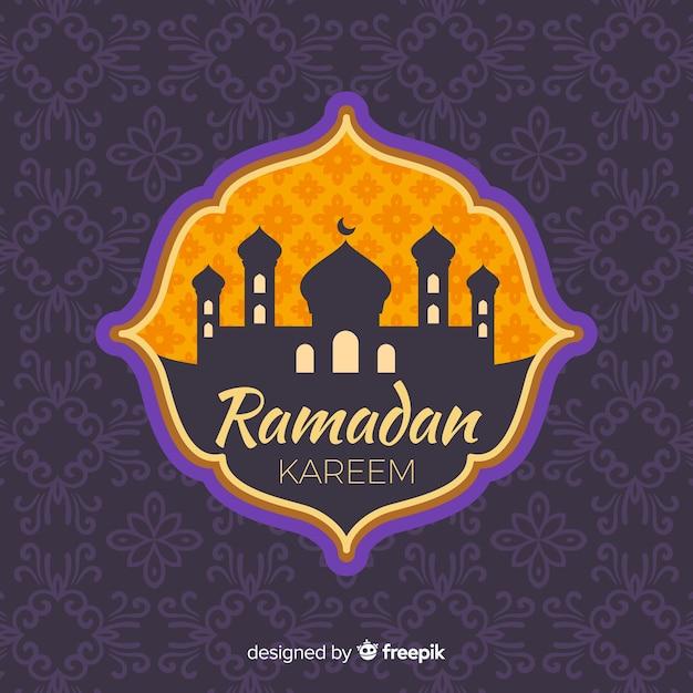 Etichetta piatta ramadan Vettore gratuito