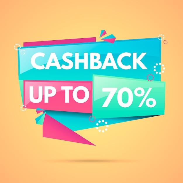 Etichette cashback con il 70% di sconto Vettore gratuito