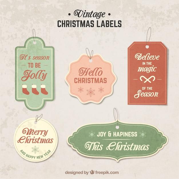 Ben noto Etichette di Natale Vintage   Scaricare vettori gratis MY11