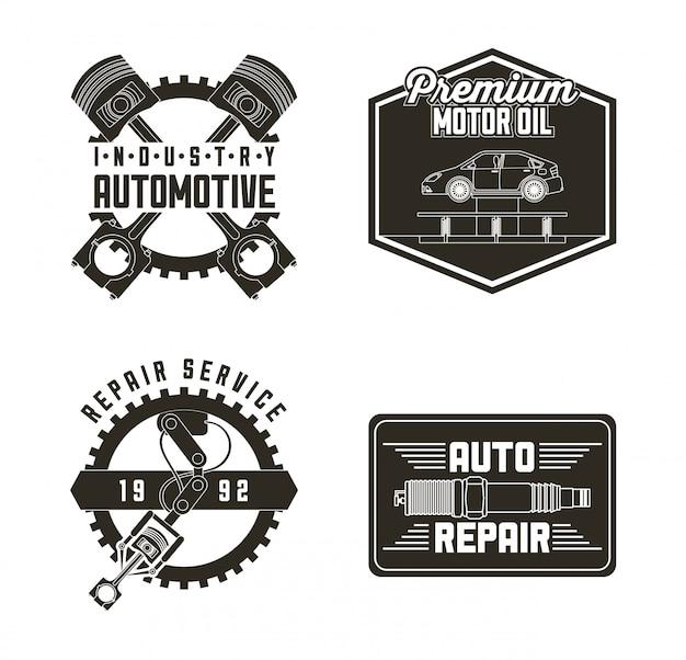 Etichette di servizio automobilistico per l'industria Vettore gratuito