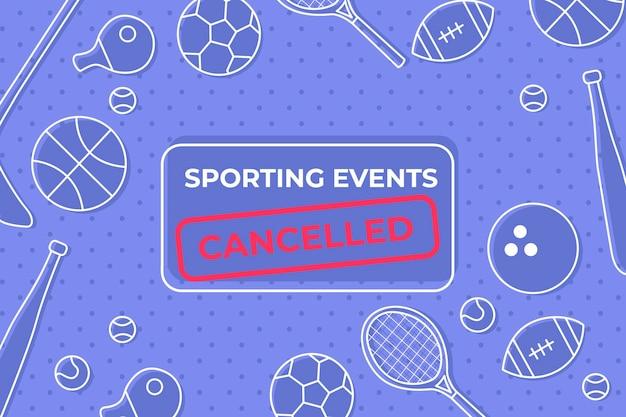 Eventi sportivi annullati - sfondo Vettore gratuito