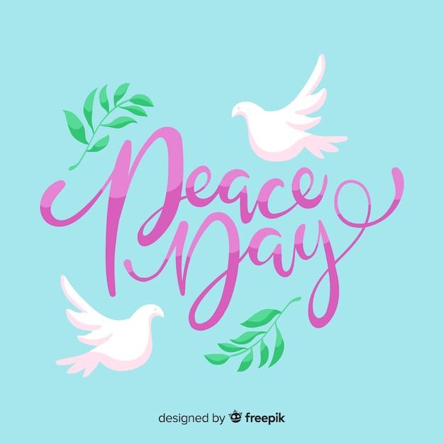 Evento di iscrizione per il giorno della pace Vettore gratuito