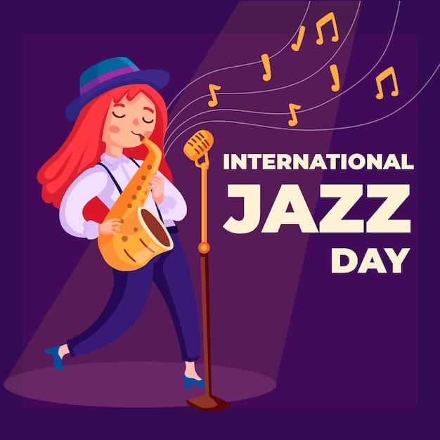 Evento internazionale di jazz dal design piatto Vettore gratuito