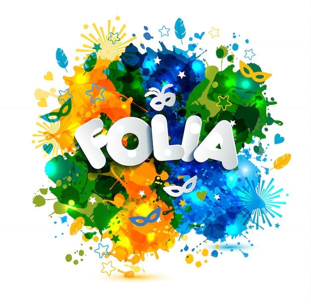 Evento popolare in brasile Vettore Premium