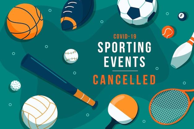 Evento sportivo annullato sfondo Vettore gratuito