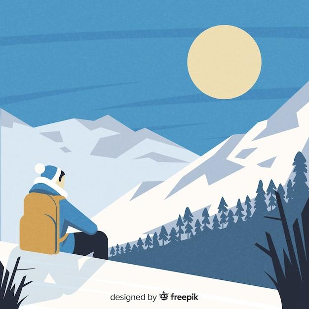 Explorer con lo sfondo dello zaino Vettore gratuito