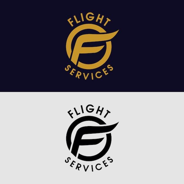 F per il logo aziendale Vettore Premium