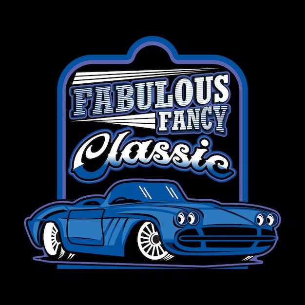 Fabulous fancy classic car Vettore Premium