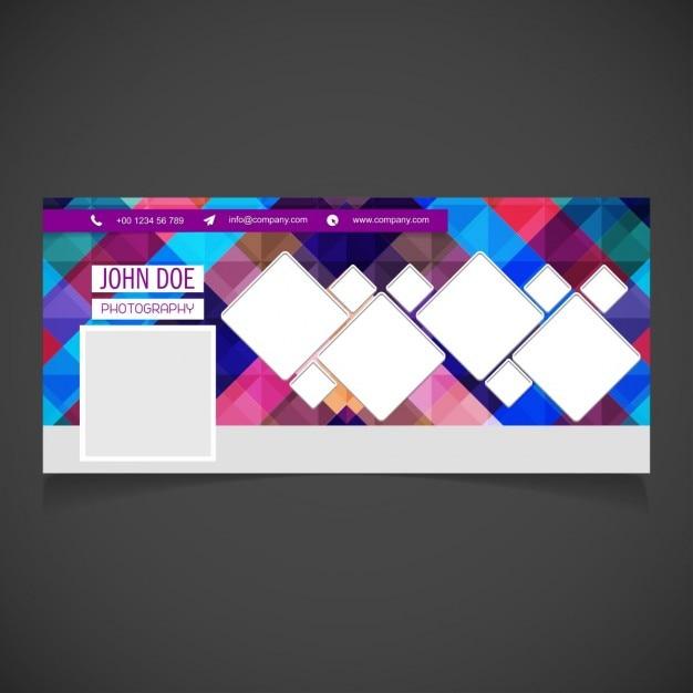 Facebook collage di foto bandiera creativo Vettore gratuito