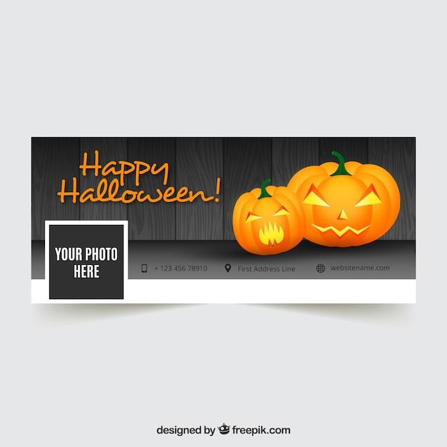 Facebook di felice copertina di Halloween Vettore gratuito