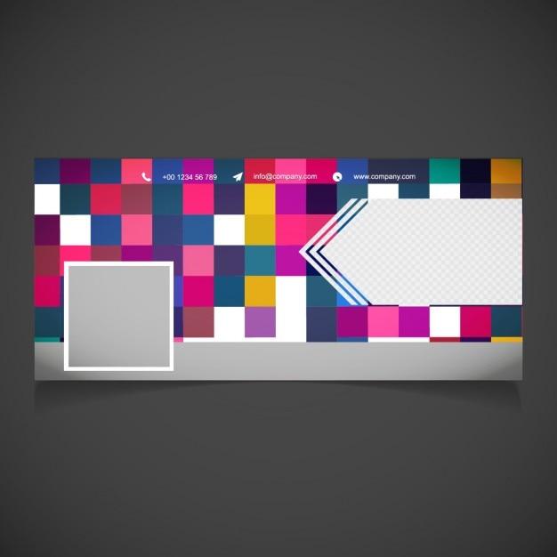 Facebook fotografia bandiera copertura Vettore gratuito