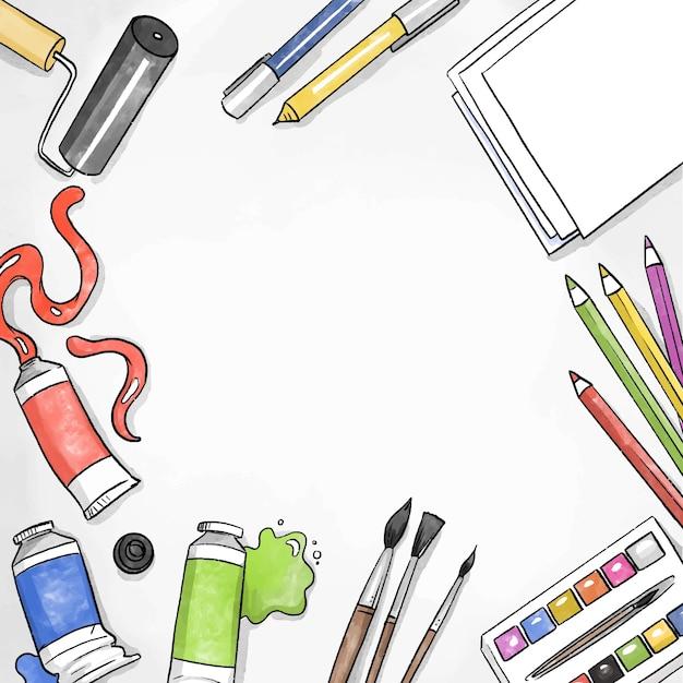 Fai da te laboratorio creativo e copia spazio Vettore gratuito