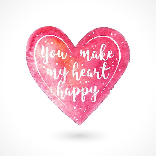Fai felice il mio cuore Vettore Premium