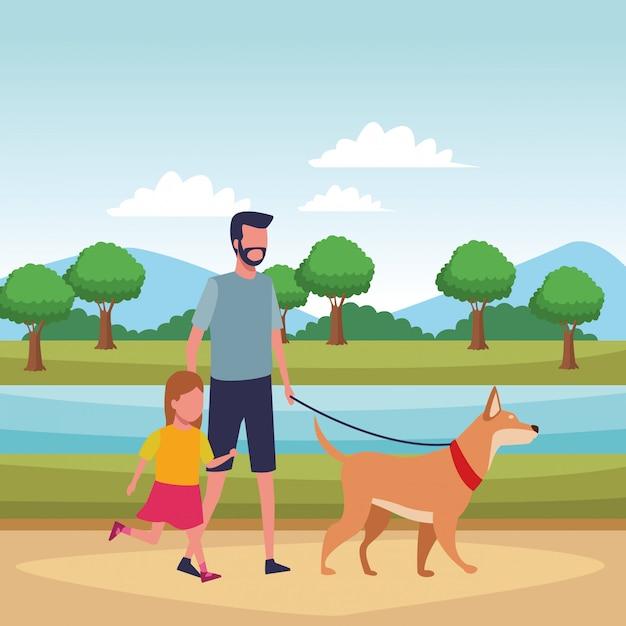 Famiglia e cartoni animati per bambini scaricare vettori premium
